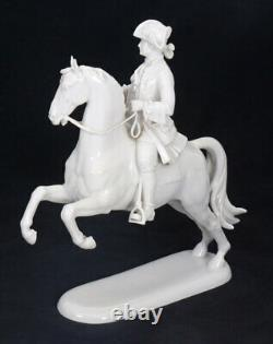 1930-1950. Germany Porcelain figurine Rider on the horse Rosenthal marked