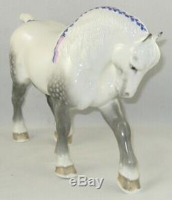 1950 Boehm Porcelain Limited Edition Horse Sculpture PERCHERON STALLION 201