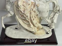 1985 Florence Giuseppe Armani Florence Figurine Titled LADY ON HORSE Porcelain