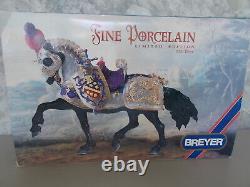 1997 Breyer The Great Horse in Armor 9 Porcelain Kathleen Moody 2500 COA 25 Yrs