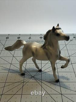 2 VINTAGE Horse Figurines Porcelain unmarked Hagen Renaker Japan grey white