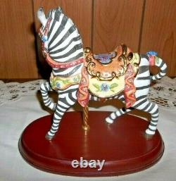 2006 Lenox Carousel Zebra Horse Excellent Condition