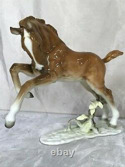 ART DECO HUTSCHENREUTHER-ROSENTHAL FOAL HORSE PORCELAIN FIGURINE by ACHTZIGER
