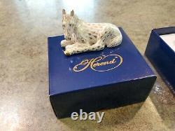 Adorable 1998 FOAL HORSE Figurine HEREND Porcelain Gold Fishnet 15451-0-00 MIB