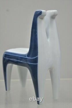 Agnethe Jorgensen for B&G Bing and Grondahl Porcelain Double Horse Statue Figure