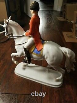 Alka Kunst bavaria Horse Rider Porcelain Figurine Passage West Germany 11 tall