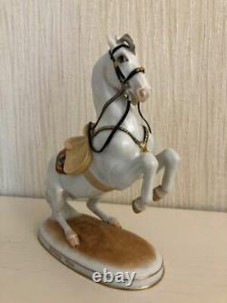 Antique 1920s original rare Porcelain figurine Horse Levade Wien Austria-Vienna