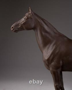 Antique 1930s Original Rare Large Porcelain stoneware figurine Stallion MEISSEN