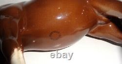 Antique Beswick England Hunter Brown Porcelain Gloss Horse Figurine