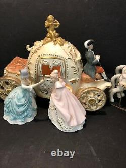 Antique Cinderella Horse Carriage Ball Stage Coach Night Light Music Box 21