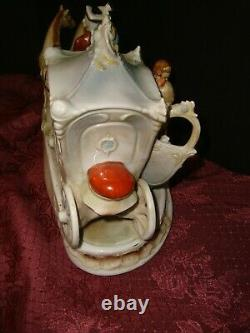Antique Grafenthal Porcelain Horse & Carriage with Courting Couple-Germany-19436
