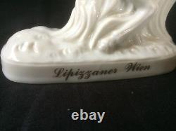 Antique Wien Levade Lipizzaner Horse Rider Figurine Porcelain