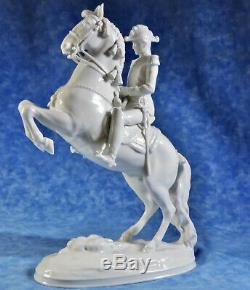Augarten Wien Vienna 11.5 Porcelain Statuette Lipizzan Horse & Rider- Dobrich