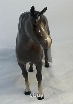 Beswick England Brown Porcelain Horse Figurine