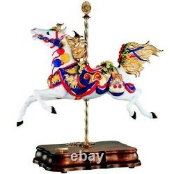 Breyer 50th Anniversary Carousel Horse w Music Box Porcelain # 79100 Mint BNIB