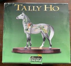 Breyer #8181 Tally Ho Gallery Porcelain Horse & Dark Cherry Wood Base Retired