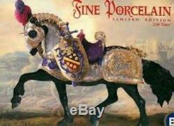 Breyer Great Horse in Armor, Fine Porcelain # 79197, Mint BNIB with COA