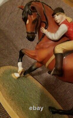 British Horse Society Best Friends Porcelain Paulie Parsans Franklin Mint 1988