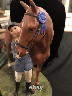 British Horse Society First Prize Figurine Franklin Mint 1987 Porcelain Ceramic