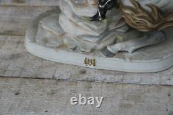 CApodimonte italian porcelain napoleon figurine on horse statue