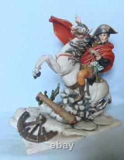 Capodimonte Large Figure Napoleon On Horse Crossing The Alps By Bruno Tyche