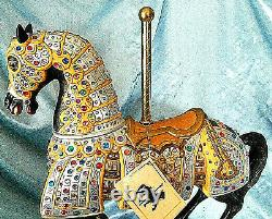 Carmel C-1900s Jeweled Knights Carousel Horse Statue 16