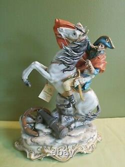 Copadimonte Porcelain Napoleon on Horse Figurine Made in Italy
