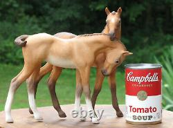 Cybis Horses Porcelain Foals Statue Colt Filly 1969 Darby & Joan Figurine Rare