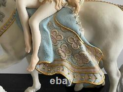 Cybis Porcelain Lady Godiva Riding on White Horse Figurine