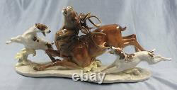 Deer pointer porcelain hutschenreuther figurine porcelainfigurine tutter 1960