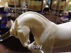 EXCLUSIVE Russian Imperial Lomonosov Porcelain Figurine Friesian Horse Breed