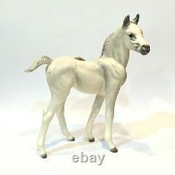 Early Hagen Renaker White Gray Small Zilla Arabian Horse Foal MINT Orig. Sticker
