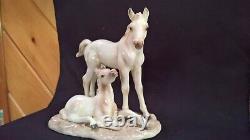 Echt Altmann Norcrest #A270 ceramic porcelain horse two foals figure Japan