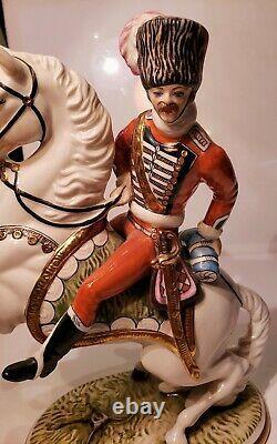 Ernst Bohne & Sons Germany Porcelain Cossack/Soldier on Rearing Horse1920-30's