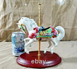 FRANKLIN MINT Carousel Enchantment Horse Porcelain Figurine Lynn Lupetti