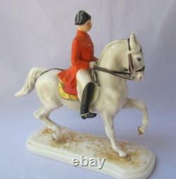 Goebel Bavaria Porcelain Lipizzaner Horse Rider Trab Wien Austria Vienna