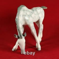 Grey Horse in Apples Figurine, Lomonosov Porcelain, Russia / USSR, LFZ, IFZ