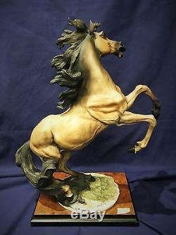 Guiseppe Armani Rearing Horse Porcelain Statue, 1992, LTD ED Signed. $5K VALUE
