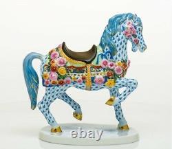 HEREND Hungary Porcelain CAROUSEL HORSE VHS13615875-0-00 FISHNET New LIMITED ED