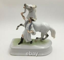 HEREND Hungary Porcelain Horse and Trainer Figurine #5588