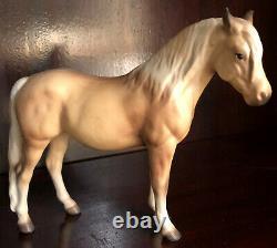 Hagen Renaker Horse, Matte Palomino DW Morgan Mare, Heather, Repaired Ear Tip