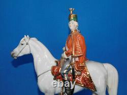 Herend Hungarian Warrior Cavalryman (Huszár) on Horse figurine porcelain