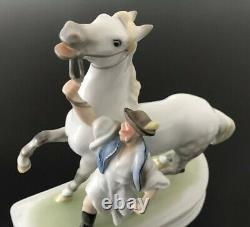 Herend Porcelain Hungary Figurine #5588 HORSE AND TRAINER Mint Condition