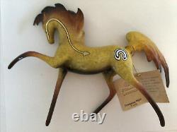 Horse Figurine Primal Visions Emergence Trojan Pony Sculpture Gold Ceramic NWT