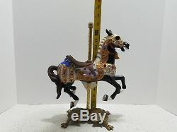 Horse Porcelain Carousel Tobin Fraley 1988 Brass Base 1872/9500 Vintage Signed