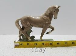 Horse Porcelain Figurine Statue Sculpture Czechoslovakia Signed Wanke Vintage