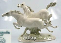 Horse pferd porcelainfigurine figurine Hutschenreuther porcelain freiheit