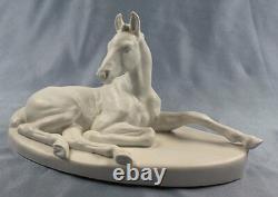 Horse porcelain fürstenberg hussmann figurine porcelainfigurine pferd bisquit