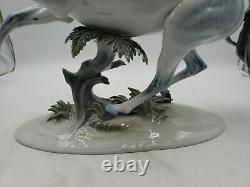 Huge Rosenthal Germany Th. Karner Rampant Horse Porcelain Figurine #1524 dk1