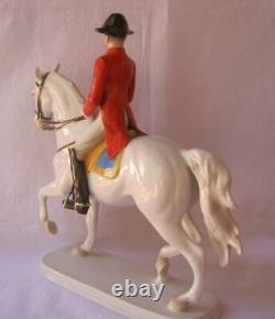 Kaiser Alka Kunst Porcelain Passage Lipizzaner Horse Rider Wien Austria Rare